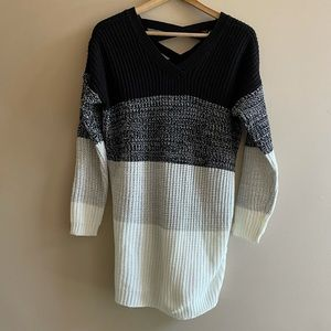 No Comment oversized stripped sweater SIZE L